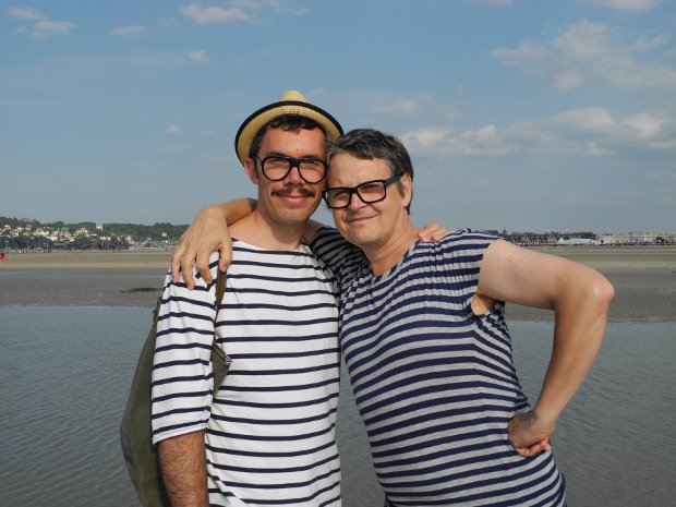 Rolf und Julien am Beach